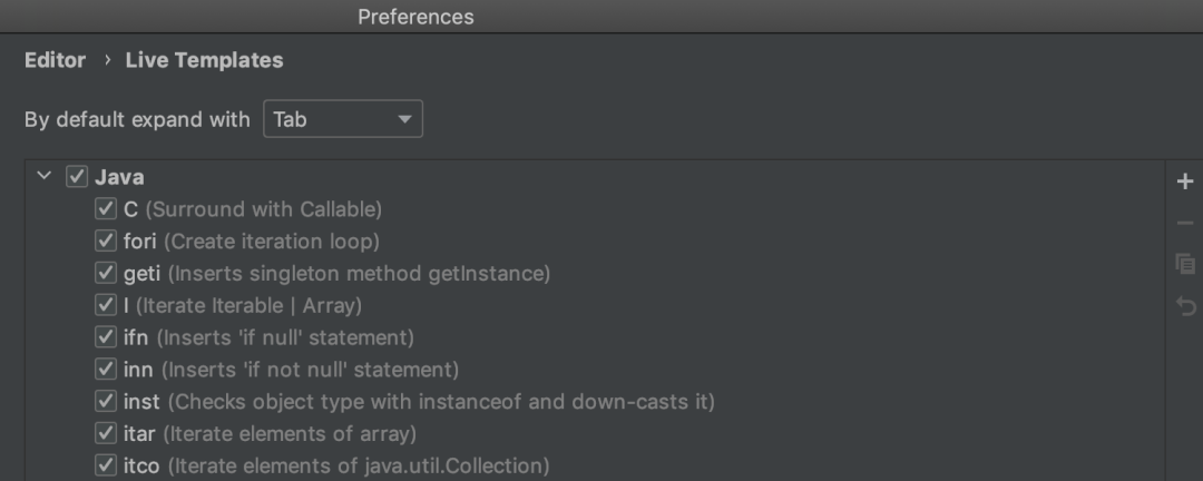 Java 实时模板简化